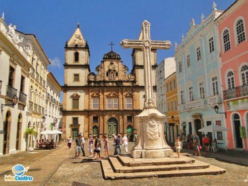 Largo do Cruzeiro e Igreja de São Francisco - Centro Histórico de Salvador-BA
