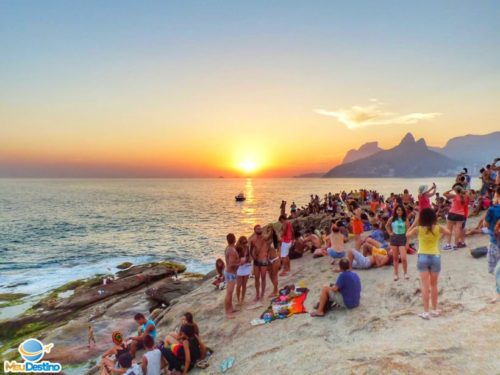 Por do Sol na Pedra do Arpoador - Rio de Janeiro-RJ